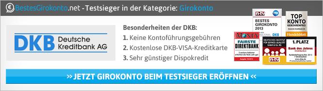 Bestes Girokonto 2014 kommt von der DKB Bank