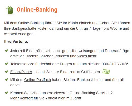 Online Banking schnell und problemlos