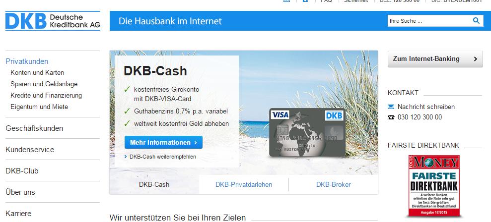 Beim kostenlosen DKB Cash Konto erhalten Sie sogar Guthabenzinsen
