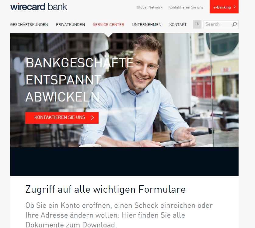 wirecard bank online