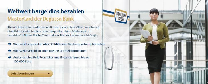 degussa bank mastercard