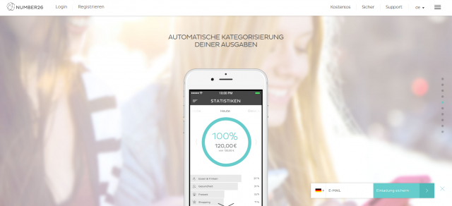 Number26 ist stolz auf die Mobile Banking Apps