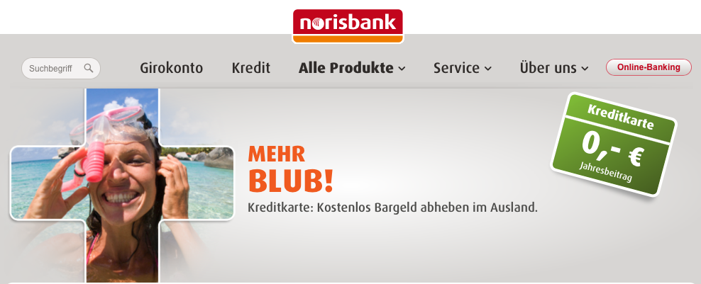 gebührenfreie Kreditkarte norisbank