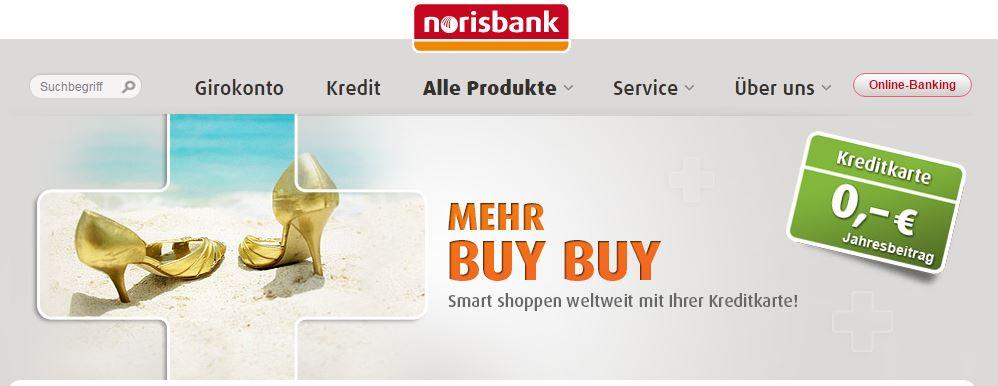 Keine Jahresgebühr bei der MasterCard der norisbank.