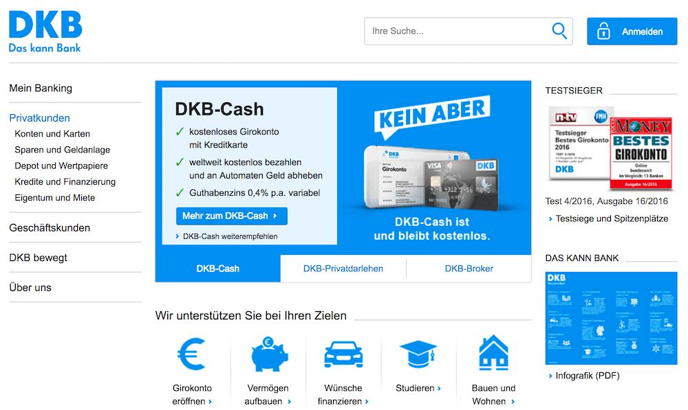 DKB Webseite