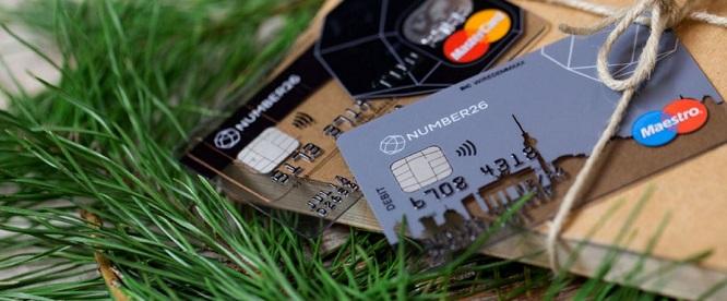 NUMBER26 Maestro Karte und MasterCard