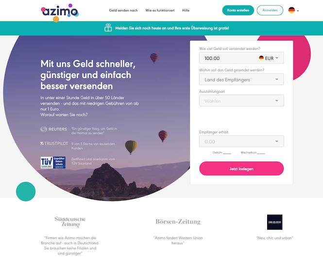 Azimo Erfahrungen von Bestesgirokonto.net