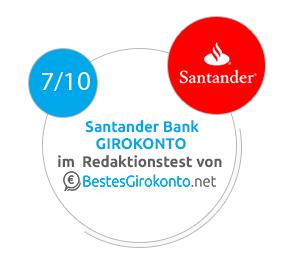 Santander Bank Erfahrungen im Test 2018 » Girokonto Bewertung on