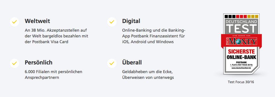 """Die Postbank überzeugte als """"Sicherste Online-Bank""""."""