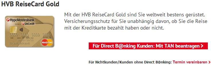 hypovereinsbank kreditkarte