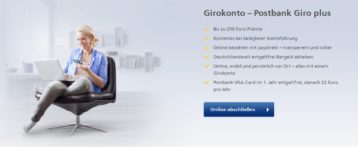 Das Postbank Girokonto überzeugt mit zahlreichen Leistungen