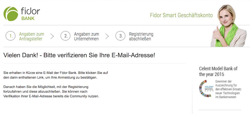 Fidor Bank Konto eröffnen