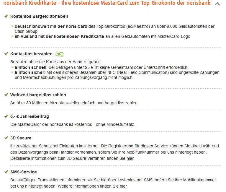 Rundum-Service der norisbank Kreditkarte