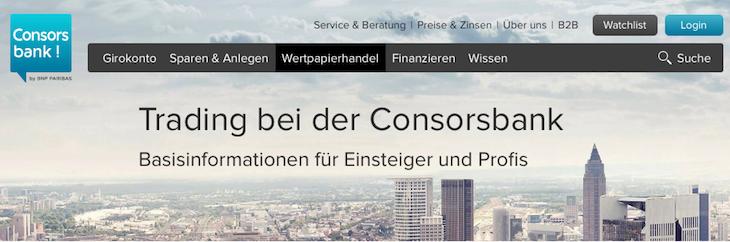 Consorsbank Erfahrungen