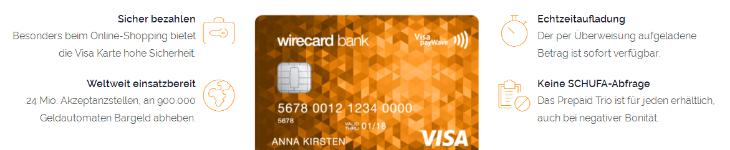 Prepaid Kreditkarten haben Vorteile ggü anderen Karten