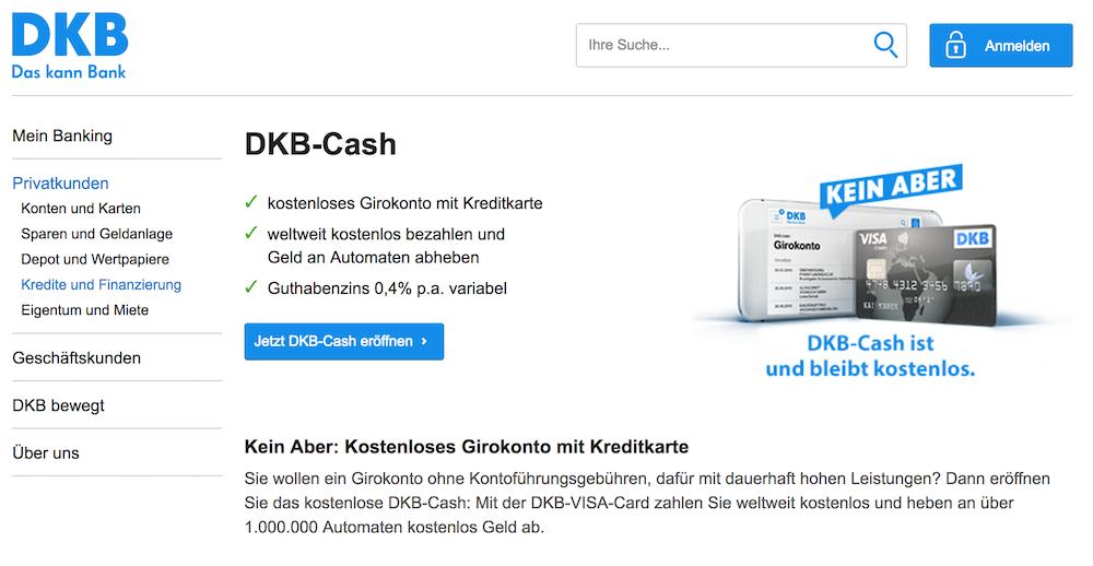 Zu dem DKB-Cash Konto können Kunden der DKB auch die VISA-Card kostenfrei anfordern