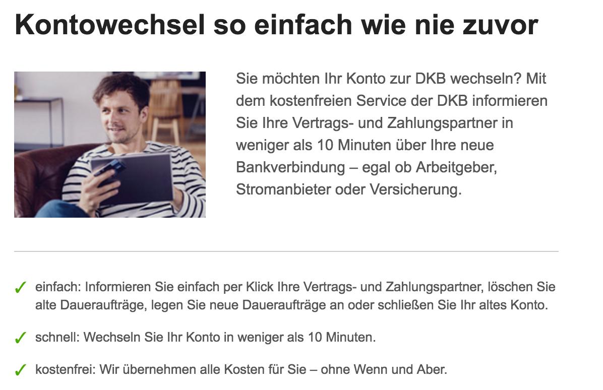 DKB Kontowechsel