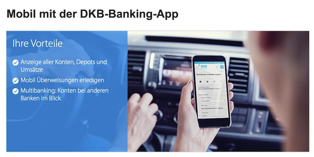 Die DKB Banking-App hält Kunden immer auf dem neusten Stand