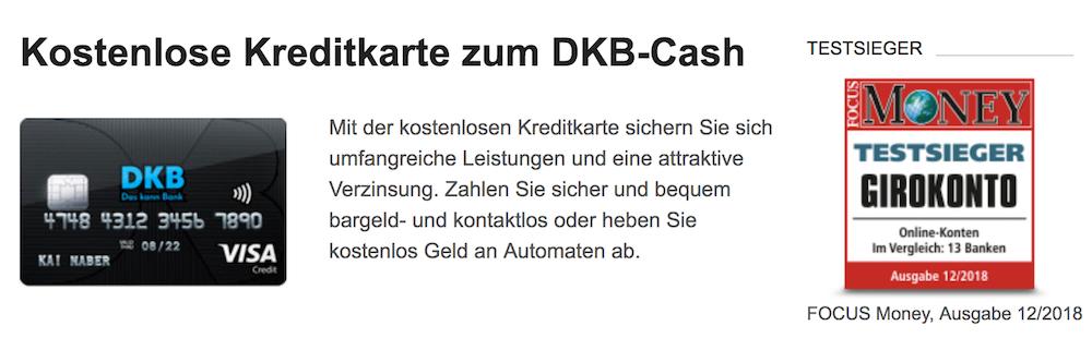 DKB Girokonto Kreditkarte
