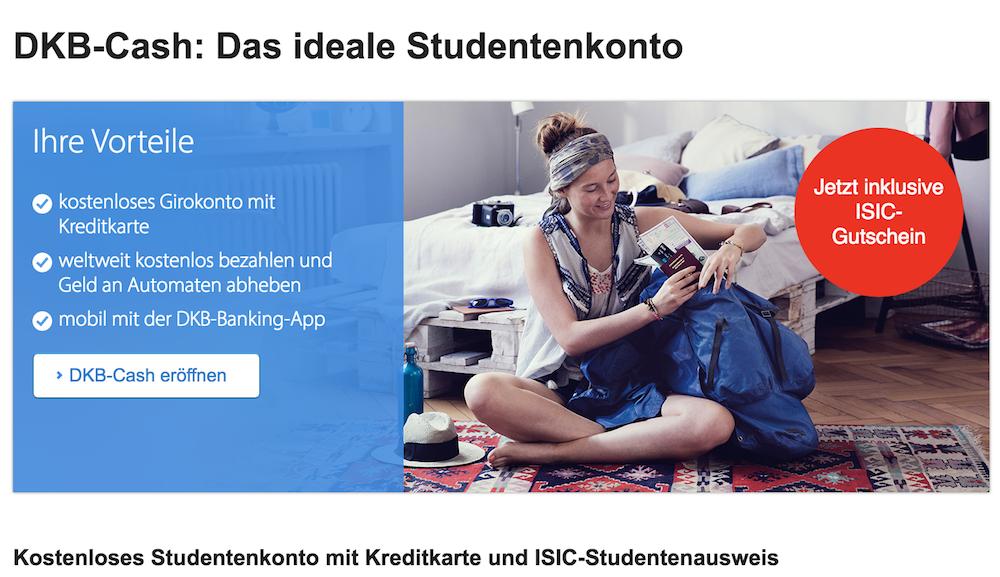 DKB-Cash Girokonto Studenten