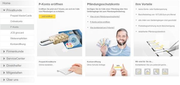 Umwandlung in PayCenter P-Konto möglich