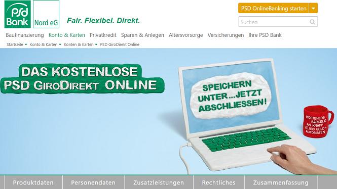 PSD Bank GiroDirekt Online Konto