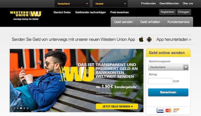 Western Union Erfahrungen western union app