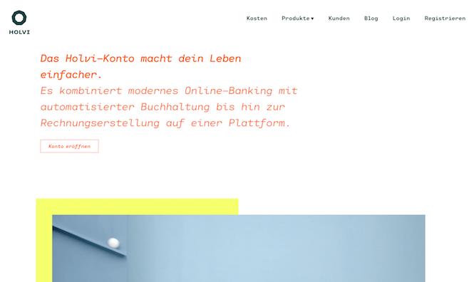 Holvi Webseite