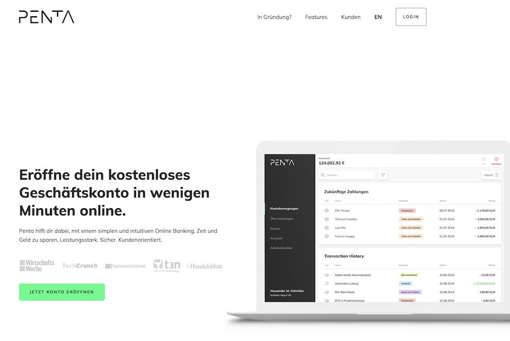 Penta Webseite