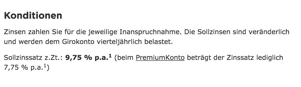 Commerzbank Konditionen