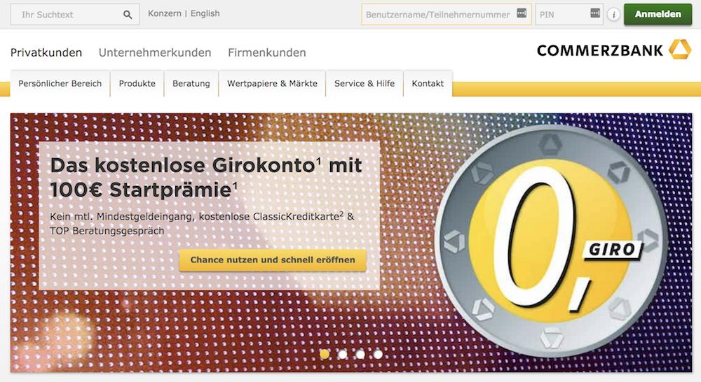 Commerzbank Girokonto Startguthaben