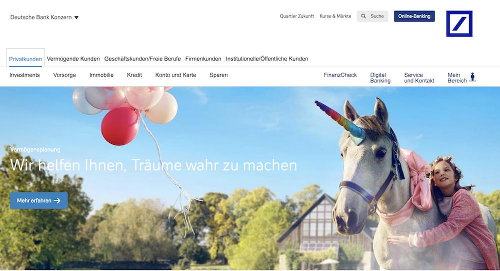 Deutsche Bank Webseite