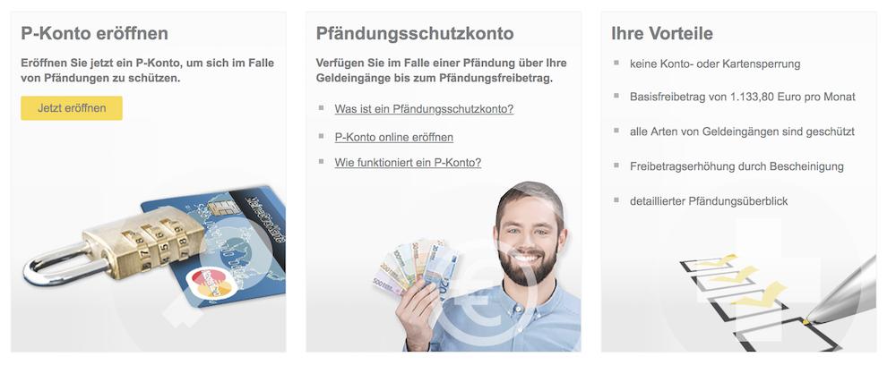 PayCenter P-Konto girokonto auf guthabenbasis ohne schufa