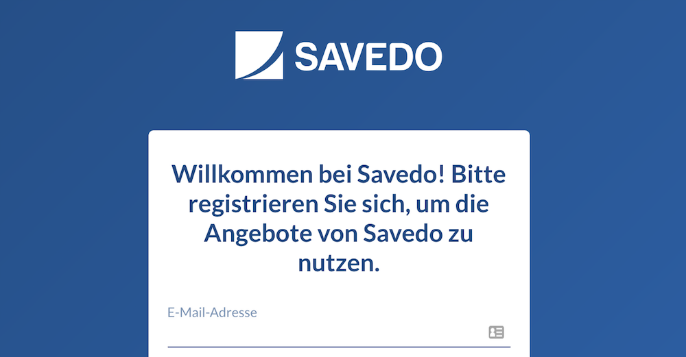 savedo Kontoeröffnung