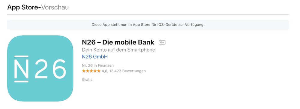 N26 iOS App