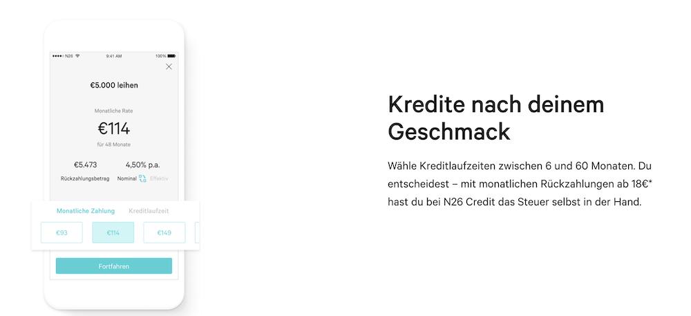 N26 App Kredite