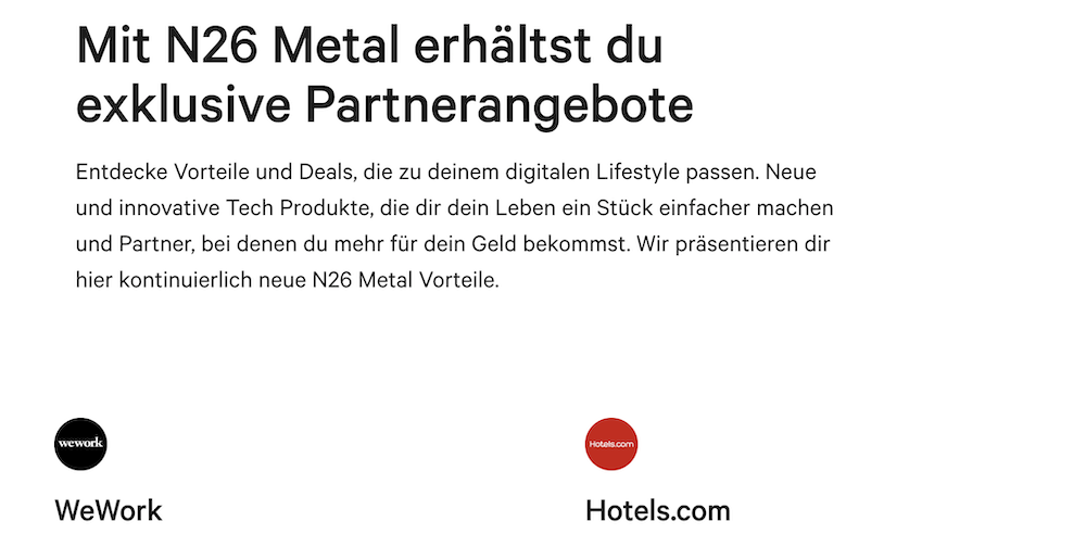 N26 Partnerangebote
