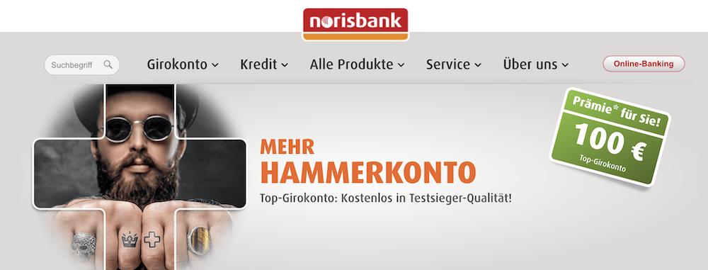 norisbank Girokonto kostenlos bezahlen