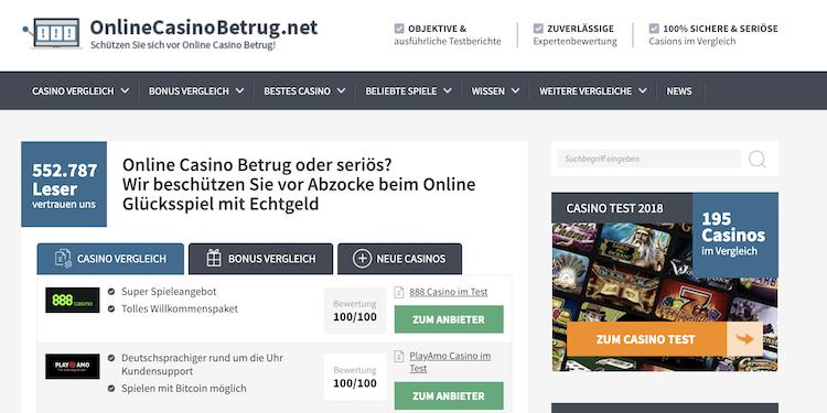 OnlineCasinoBetrug.org Portal