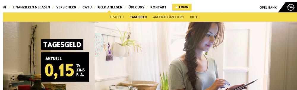 Opel Bank Tagesgeld Erfahrungen von BestesGirokonto.net